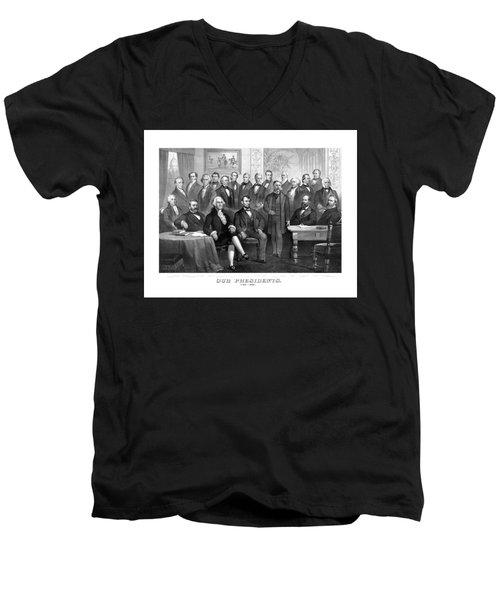 Our Presidents 1789-1881 Men's V-Neck T-Shirt