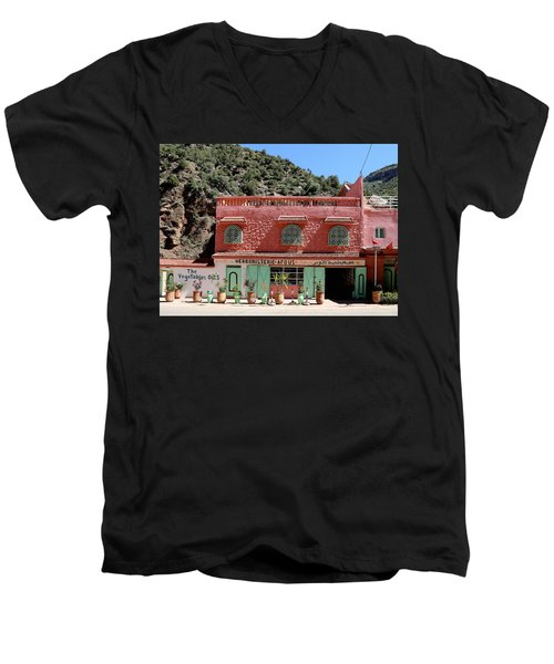 Men's V-Neck T-Shirt featuring the photograph Ourika Valley by Andrew Fare