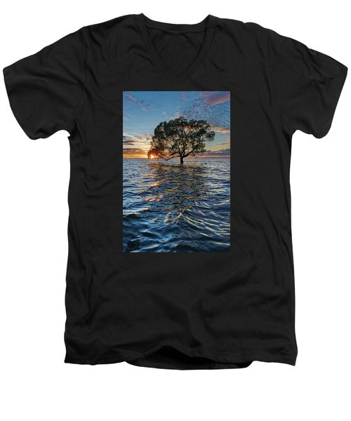 Out At Sea Men's V-Neck T-Shirt