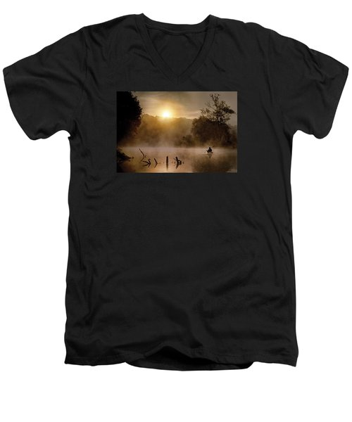Out Of The Gloom Men's V-Neck T-Shirt by Robert Charity