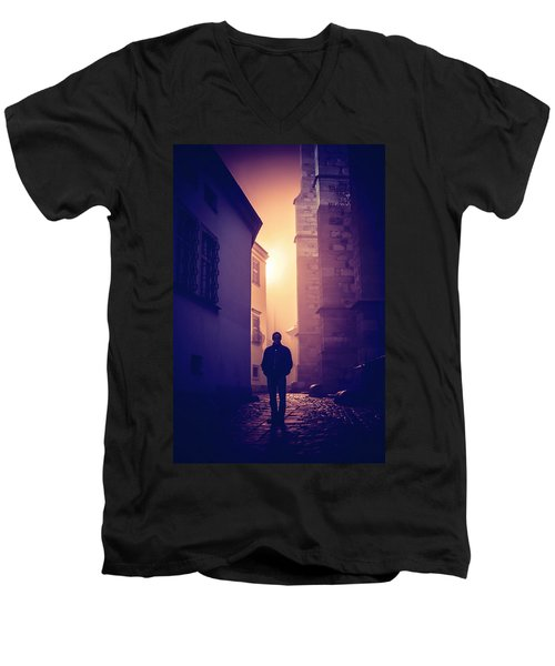 Men's V-Neck T-Shirt featuring the photograph Out Of Time by Jenny Rainbow