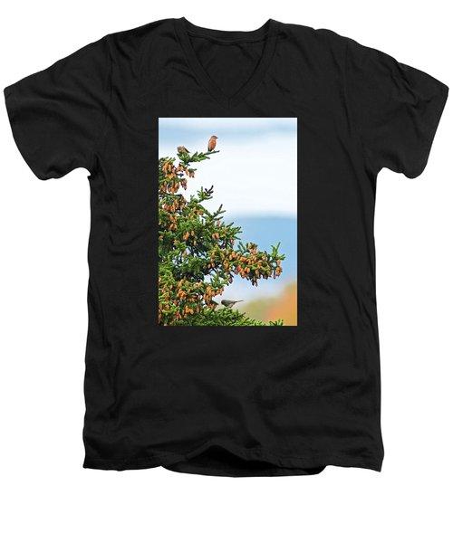 Out On A Limb # 2 Men's V-Neck T-Shirt by Matt Plyler