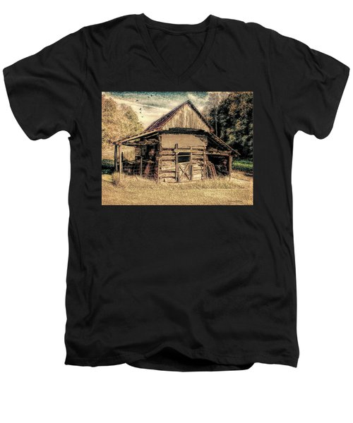 Out To Pasture 1 Men's V-Neck T-Shirt by Bellesouth Studio