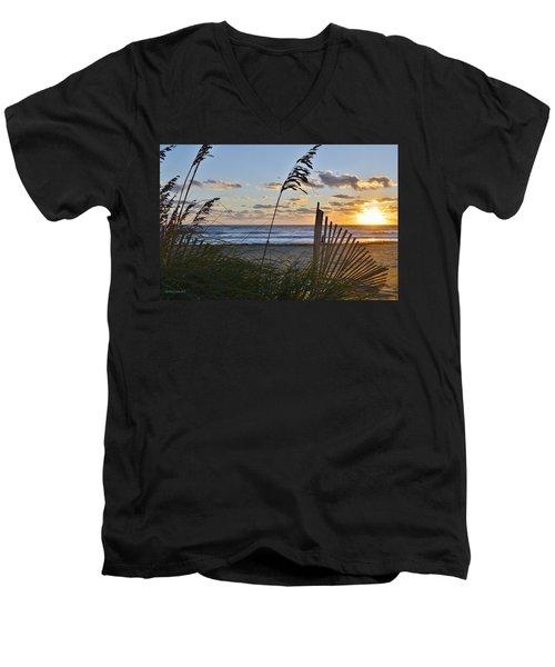 Outer Banks Sunrise Men's V-Neck T-Shirt