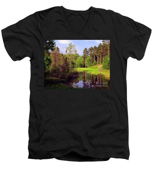 Over The Pond Men's V-Neck T-Shirt