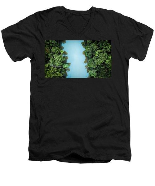 Over The River Men's V-Neck T-Shirt