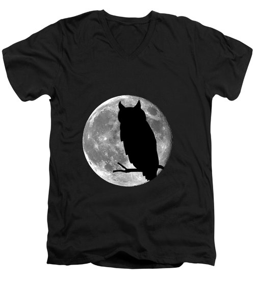 Owl Moon .png Men's V-Neck T-Shirt by Al Powell Photography USA