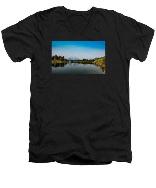 Oxbow Bend Men's V-Neck T-Shirt