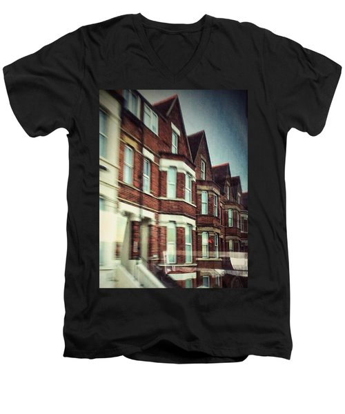 Men's V-Neck T-Shirt featuring the photograph Oxford by Persephone Artworks