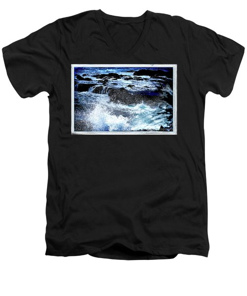 Pacific Palm Shadows Men's V-Neck T-Shirt