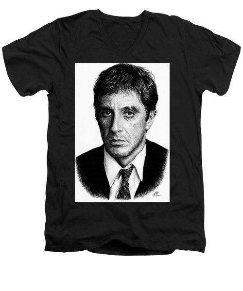 Pacino Scarface Men's V-Neck T-Shirt