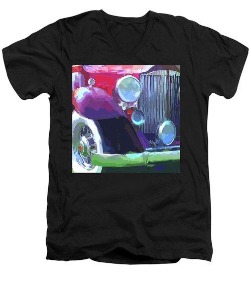 Packard Close Up Pop Men's V-Neck T-Shirt