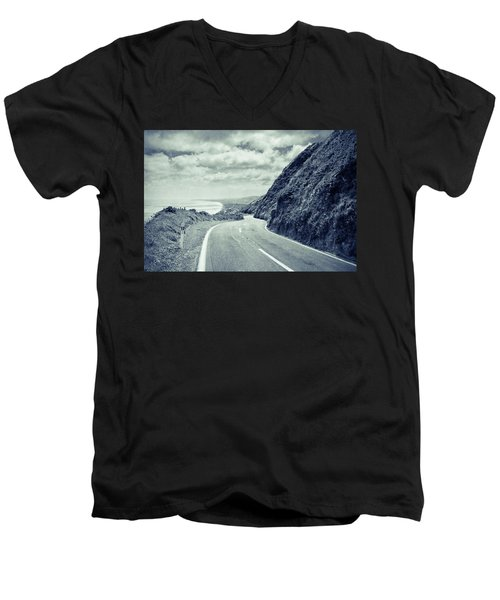 Paekakariki Men's V-Neck T-Shirt by Joseph Westrupp
