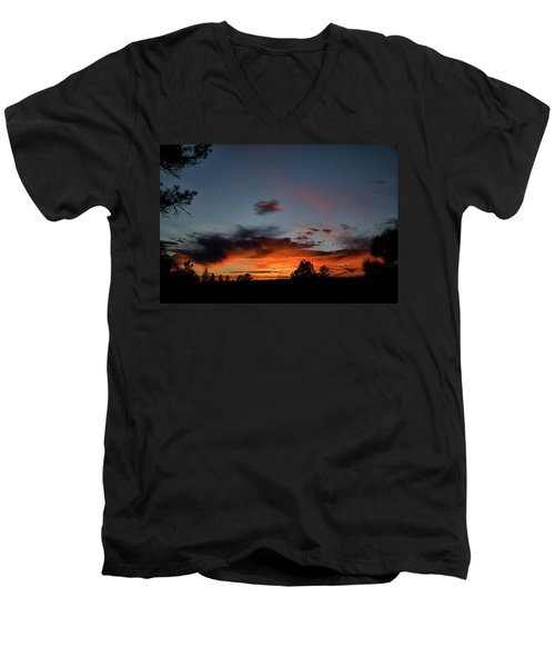 Pagosa Sunset 11-30-2014 Men's V-Neck T-Shirt