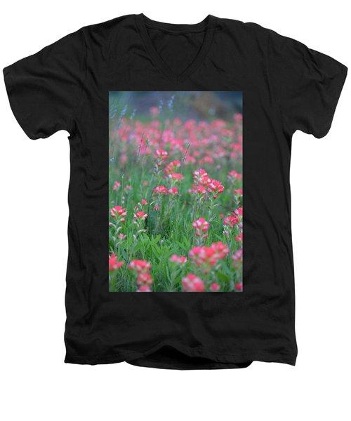 Paint Brushes For Texas Men's V-Neck T-Shirt by Carolina Liechtenstein