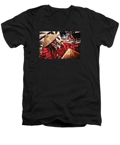 Painted Puffer Men's V-Neck T-Shirt