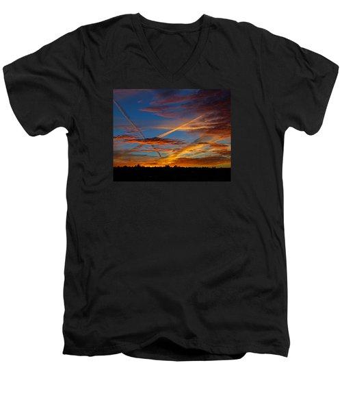 Painted Skies Men's V-Neck T-Shirt