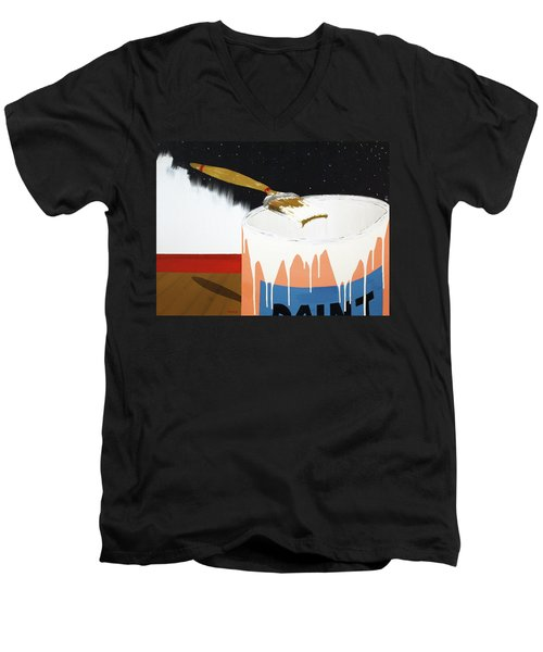 Painting Out The Sky Men's V-Neck T-Shirt by Thomas Blood