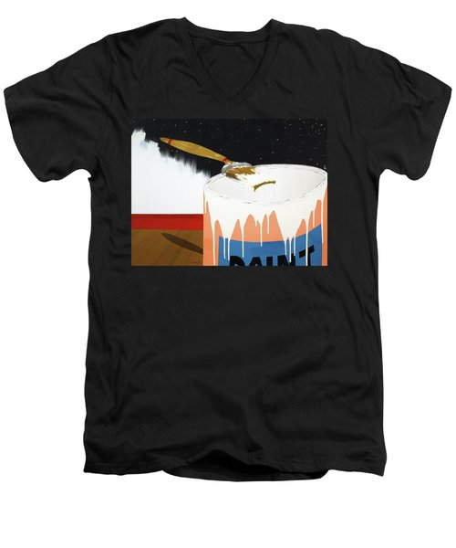 Painting Out The Sky Men's V-Neck T-Shirt