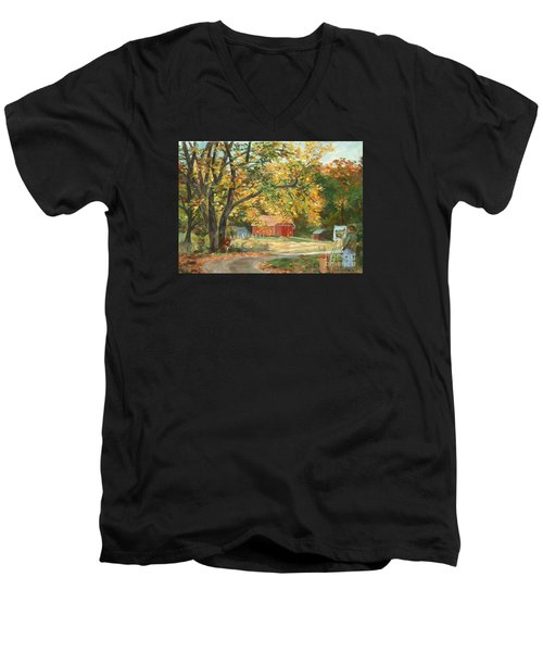 Painting The Fall Colors Men's V-Neck T-Shirt
