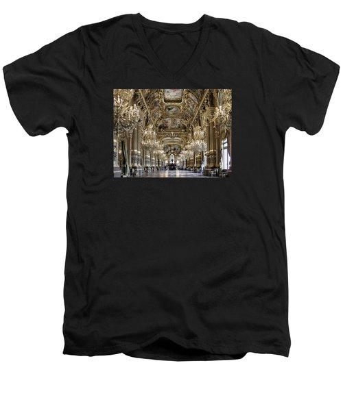 Palais Garnier Grand Foyer Men's V-Neck T-Shirt by Alan Toepfer
