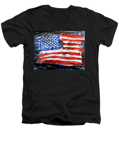 Palette Of Our Founding Principles Men's V-Neck T-Shirt