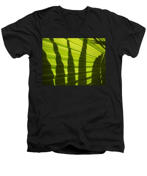 Men's V-Neck T-Shirt featuring the photograph Palmetto 4 by Renate Nadi Wesley