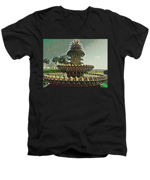 Palms And Pineapples Men's V-Neck T-Shirt