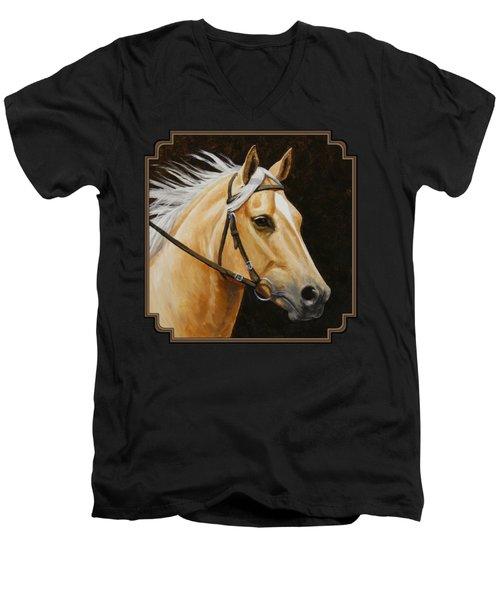Palomino Horse Portrait Men's V-Neck T-Shirt