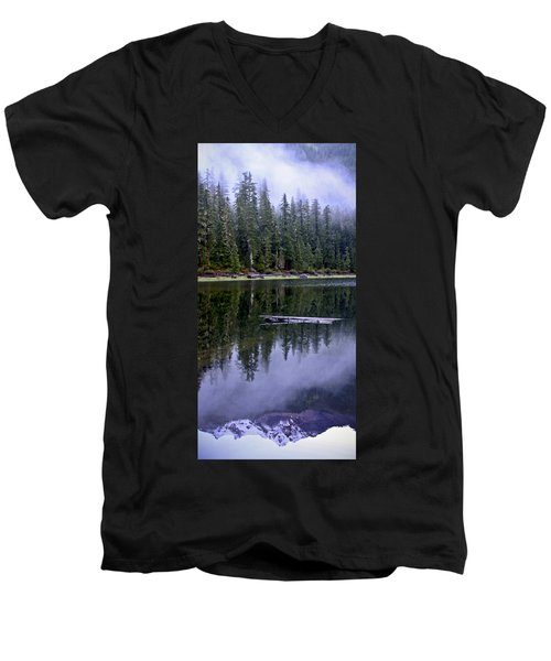 Pamelia Lake Reflection Men's V-Neck T-Shirt