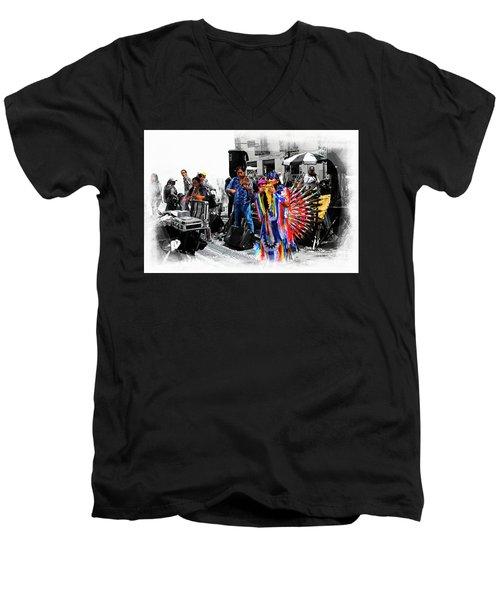 Pan Flutes In Cuenca Men's V-Neck T-Shirt