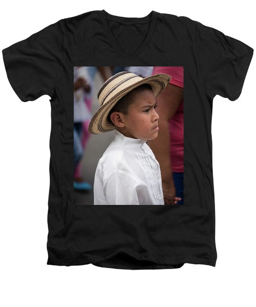 Panamanian Boy Men's V-Neck T-Shirt