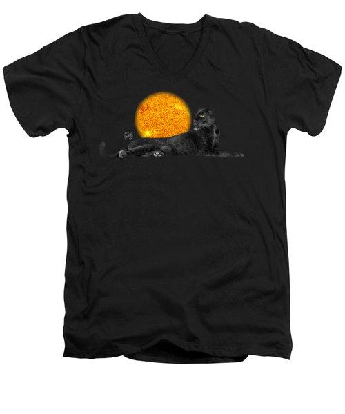 Panther No 01 Men's V-Neck T-Shirt