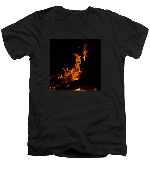 Pareidolia Fire Men's V-Neck T-Shirt