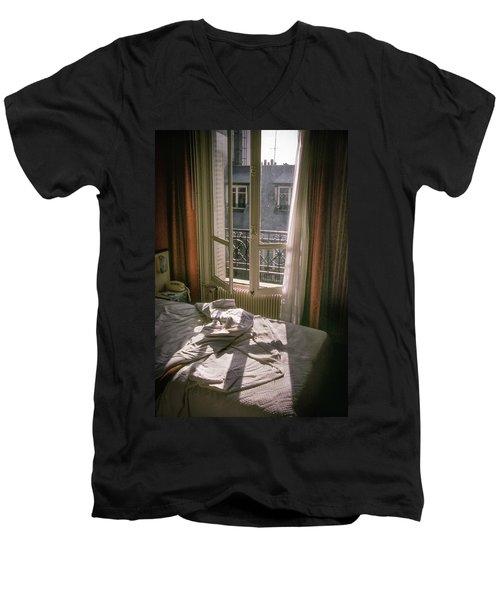 Paris Morning Men's V-Neck T-Shirt