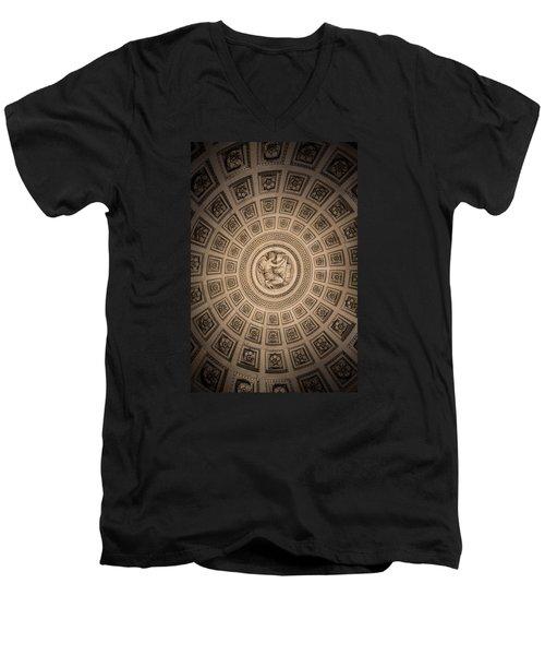 Paris Pantheon Ceiling Men's V-Neck T-Shirt by Jean Haynes