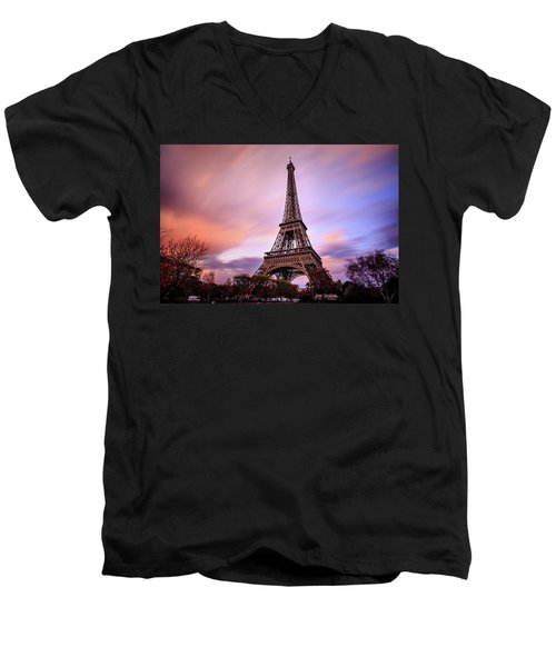 Paris Pastels Men's V-Neck T-Shirt by Jennifer Casey
