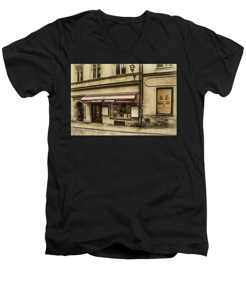 Parked By A Gallery Men's V-Neck T-Shirt