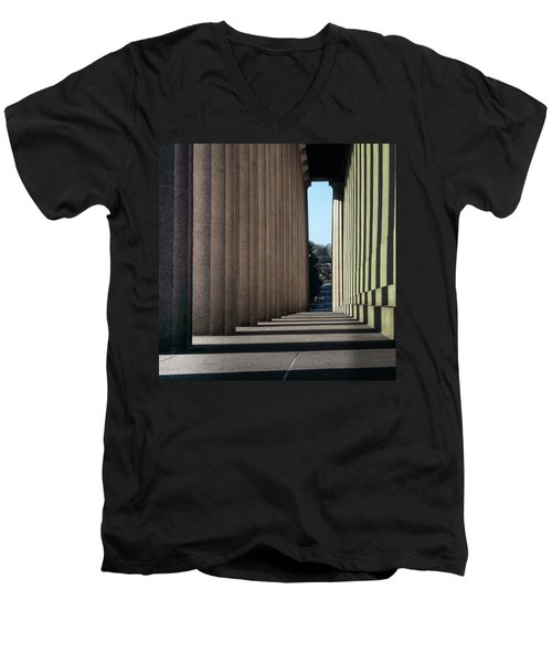 Parthenon Shadow Tunnel Men's V-Neck T-Shirt