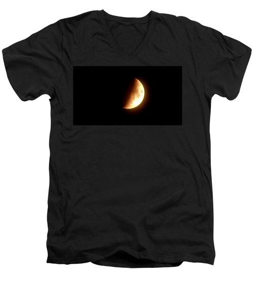 Partial Moon Men's V-Neck T-Shirt