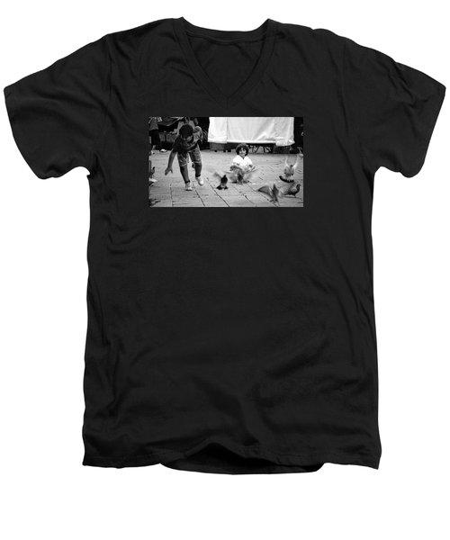 Party Crasher Men's V-Neck T-Shirt by David Gilbert