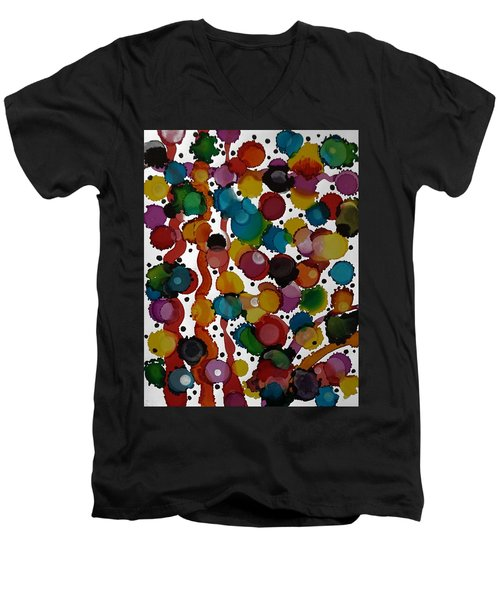 Party Time Men's V-Neck T-Shirt by Alika Kumar