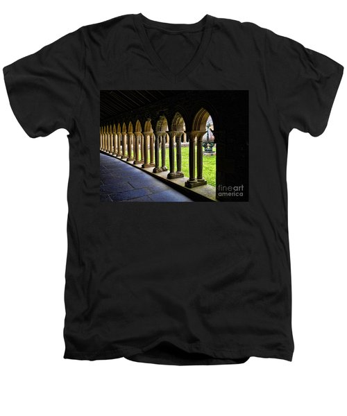 Men's V-Neck T-Shirt featuring the photograph Passage To The Ancient by Roberta Byram