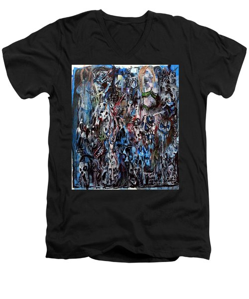 Past Life Trauma Men's V-Neck T-Shirt