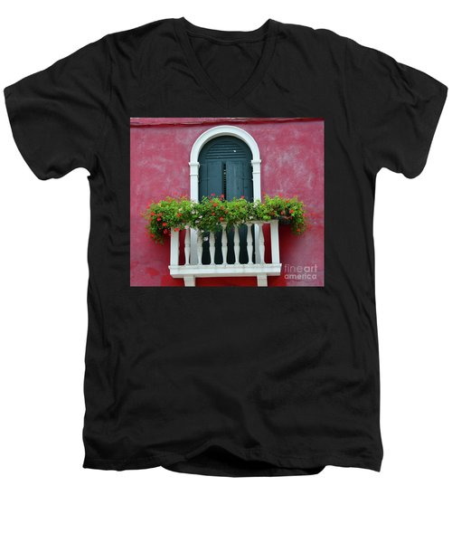 Pastel Colors Of Burano  Men's V-Neck T-Shirt