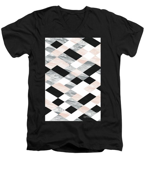 Pastel Scheme Geometry Men's V-Neck T-Shirt