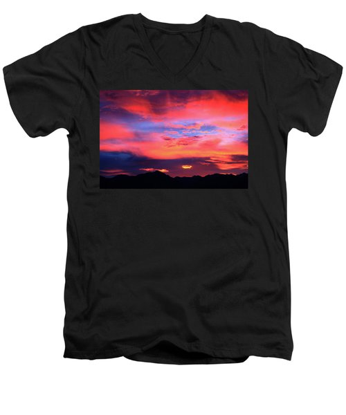 Pastel Sunset Men's V-Neck T-Shirt