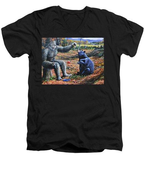 Pastromi On Rye Men's V-Neck T-Shirt by Michael Wawrzyniec