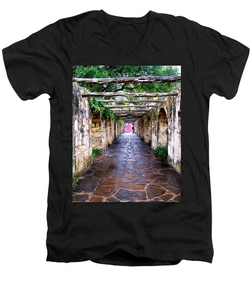 Path To The Alamo Men's V-Neck T-Shirt