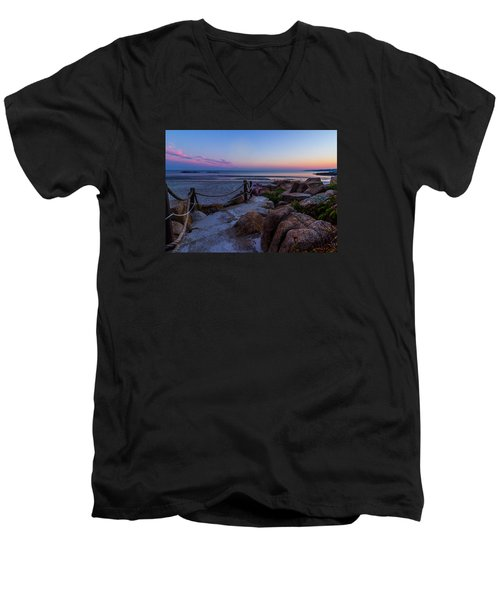Path To The Beach Men's V-Neck T-Shirt by Tim Kirchoff